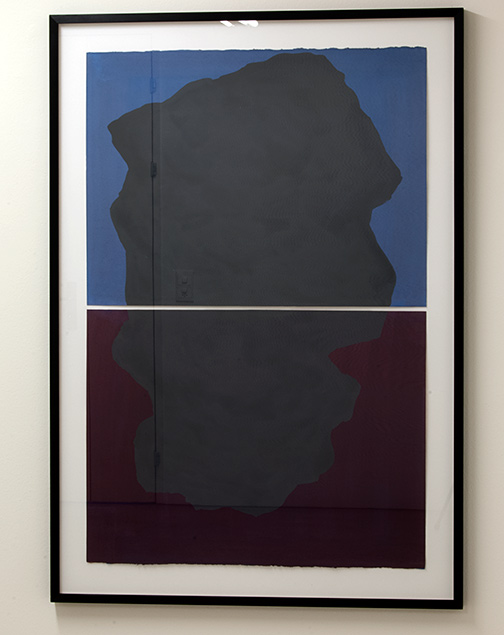Sol LeWitt / Diptych with Irregular Forms on Two Different Color  1997  114.3 x 76.2 cm  gouache on paper