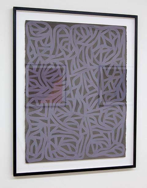 Sol LeWitt / Irregular Grid  2001  75 x 57.6 cm  gouache on paper