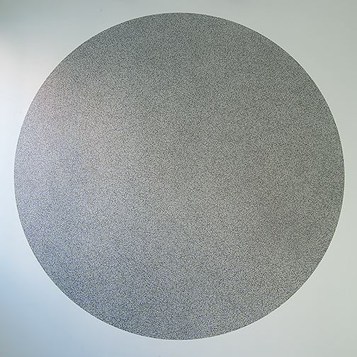 Sol LeWitt / 10'000 straight and 10'000 not straight lines within a four-meter circle  2005 black marker Drawn by Nicolai Angelov, 2015