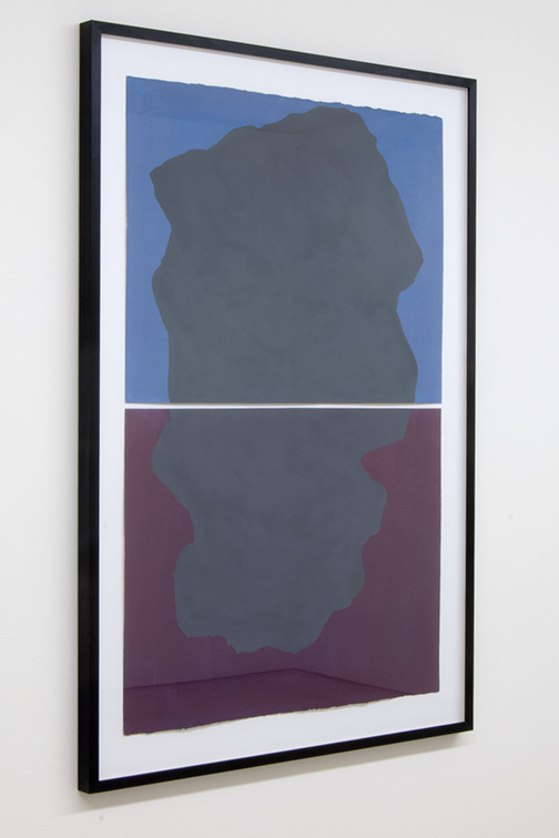 Sol LeWitt / Diptych with Irregular Forms on Two Different Colors  1997  114.3 x 76.2 cm   gouache on paper