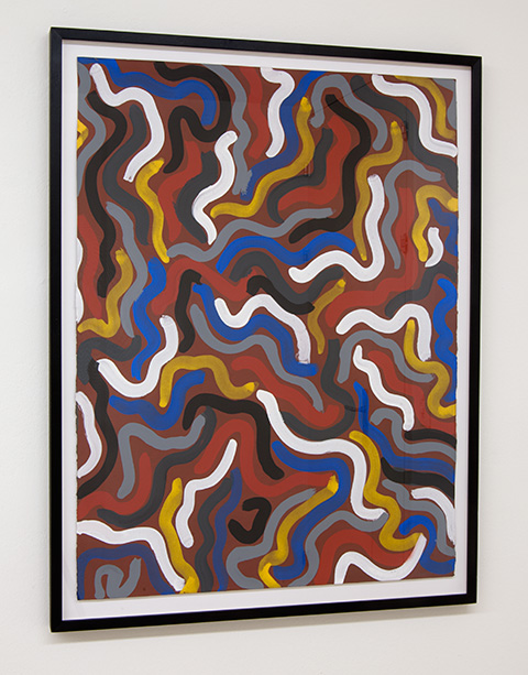Sol LeWitt / Squiggly Brushstrokes  1997  76 x 56 cm   gouache on paper