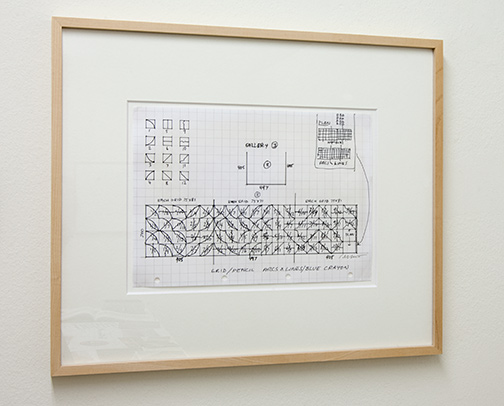 Sol LeWitt / Working Drawing Butler Gallery Kilkenny Castle, Ireland  n.d. 21 x 29.7 cm ink and pencil on checkered paper