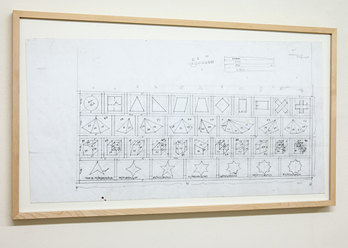 Sol LeWitt / Working Drawing  n.d. 40.5 x 76 cm pencil on paper