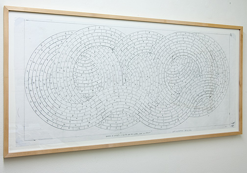 Sol LeWitt / Working Drawing Princeton  2004  45.8 x 101.5 cm pencil on paper