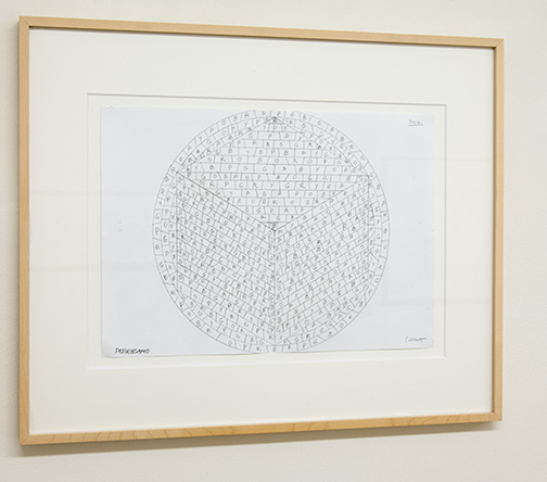 Sol LeWitt / Working Drawing Ferragamo  2004  29.7 x 42 cm pencil on paper
