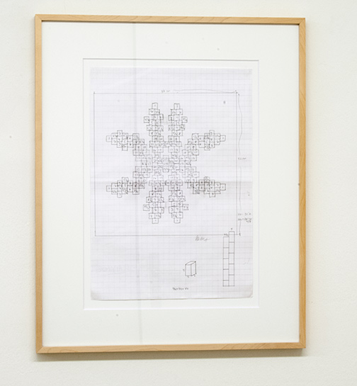 Sol LeWitt / Working Drawing for Concrete Block Structure  n.d. 42 x 29.6 cm pencil on paper