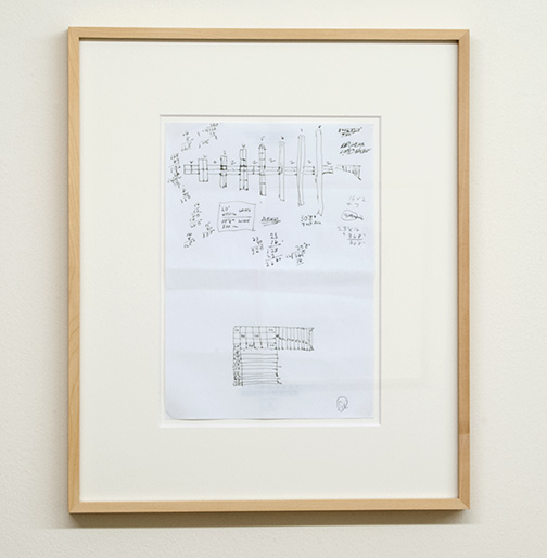 Sol LeWitt / Working Drawing for Concrete Block Structure (Swiss Re)  2000  29.7 x 21 cm ink on paper
