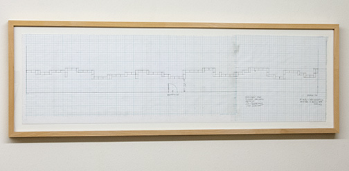 Sol LeWitt / Working Drawing for Concrete Block Structure (Tschudi)  2000  25.9 x 90.8 cm pencil on checkered paper