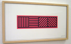 Sol LeWitt / Lines in four directions in color on color  2004 portfolio of 6 two color linocuts, each 25 x 48 cm Ed. 75 AP 8/8