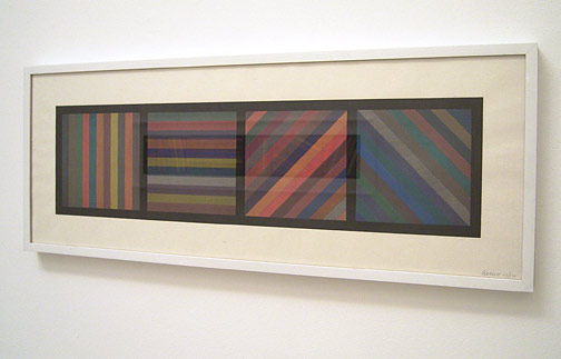 Sol LeWitt / Bands of lines in four directions  1993 26.7 x 72.4 cm woodblock Ed.113/125