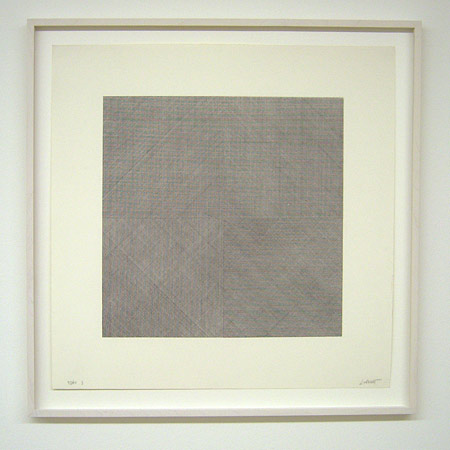 Sol LeWitt / Composite Series  1971 50.8 x 50.8 cm silkscreen (black) Ex.37/40