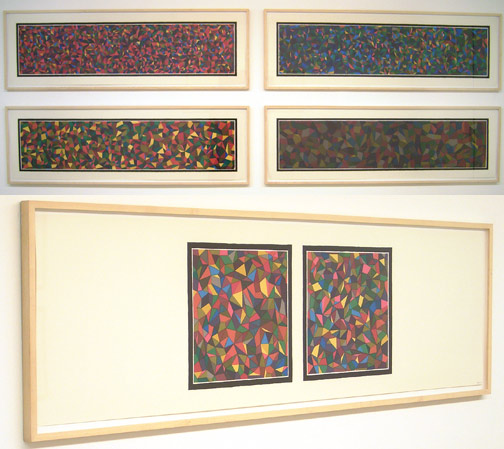 Sol LeWitt / Complex Forms  1990 43.2 x 150 cm color silkscreen portfolio of 5 Ed. 11/15