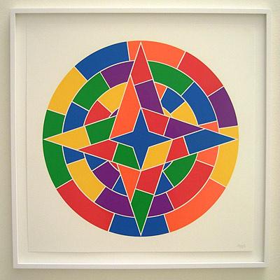 Sol LeWitt / Tondo Stars  2002 each 68.9 x 68.9 cm linocut portfolio of 6 Ex. 43/100