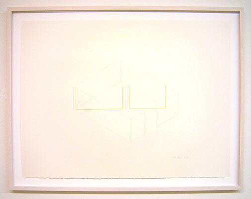 Fred Sandback / Untitled  1985 57.2 x 76.2 cm pencil and pastel pencil on paper