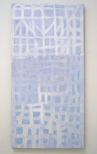 Joseph Egan / highlight  2006 100 x 50 x 2.5 cm various paints on canvas