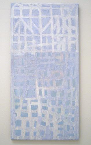 Joseph Egan / highlight  2006 100 x 50 x 2.5 cm various paints on canvas