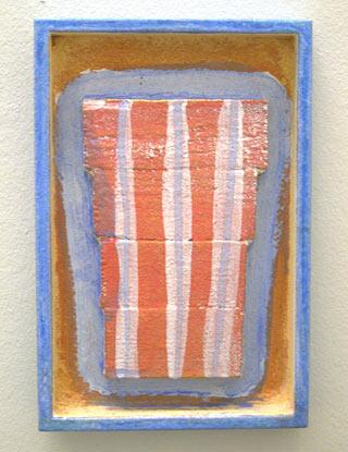 Joseph Egan / robe  2003 30 x 20 x 3 cm various paints and sand on wood