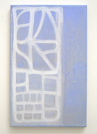 Joseph Egan / Passage  2005 45 x 28 x 2 cm various paints on canvas