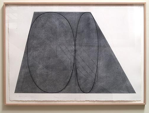 Robert Mangold / Robert Mangold Plane/Figure  1992  105.4 x 148.6 cm Graphite on paper