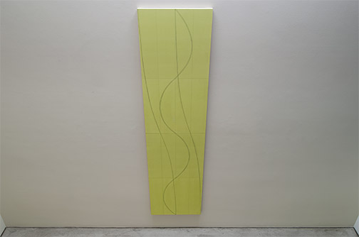 Robert Mangold / Robert Mangold Double Line Column 2  2005 304.8 x 76.2 cm acrylic and pencil on canvas