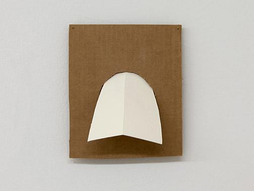 Richard Tuttle / Richard Tuttle Formal Alphabet F  2015 22.8 x 19.8 cm acrylic on corrugated cardboard, steel nails