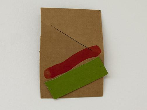 Richard Tuttle / Richard Tuttle Formal Alphabet L  2015 30.2 x 23.2 cm acrylic on corrugated cardboard, steel nails