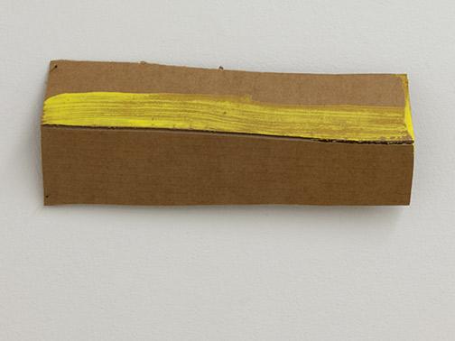 Richard Tuttle / Richard Tuttle Formal Alphabet M  2015 11.8 x 33.1 cm acrylic on corrugated cardboard, steel nails