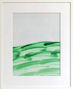 Joseph Egan / Joseph Egan Hillside Lake (colours in the world)  1999 43 x 35 x 2.5 cm various paints on paper, with framing