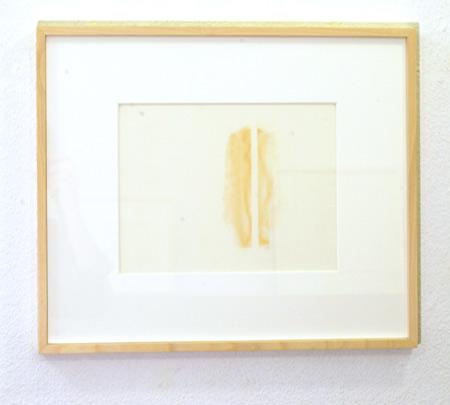 "Fred Sandback / Fred Sandback Untitled  1990 21.6 x 27.9 cm / 8.5 x 11"" pastell on vellum"