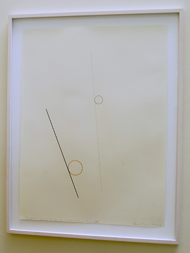 David Rabinowitch / David Rabinowitch  Construction of Vision  (2 colour properties,  2 tangent) VIII  1973 76 x 57 cm pencil and colored pencil on paper