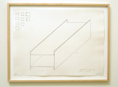 "Donald Judd / Donald Judd  Untitled  1978 55.8 x 76.2 cm / 22 x 30"" graphite on paper private collection"