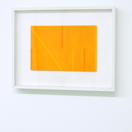 Antonio Calderara / Antonio Calderara  Senza titolo (Lettera di un convalescente)  1975 18 x 21 cm Oel auf Holz