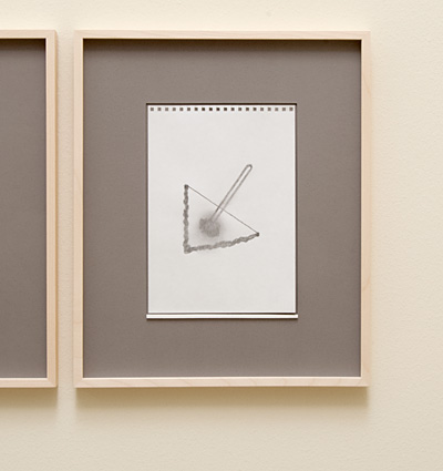 Richard Tuttle / 18 Drawings for Village IV Untitled, No. 11  2004  paper: 24 x 17 cm / pp: 39.7 x 32.7 cm pencil on paper