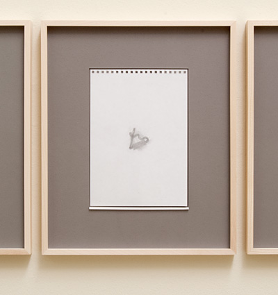 Richard Tuttle / 18 Drawings for Village IV Untitled, No. 14  2004  paper: 24 x 17 cm / pp: 39.7 x 32.7 cm pencil on paper