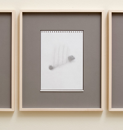 Richard Tuttle / 18 Drawings for Village IV Untitled, No. 15  2004  paper: 24 x 17 cm / pp: 39.7 x 32.7 cm pencil on paper