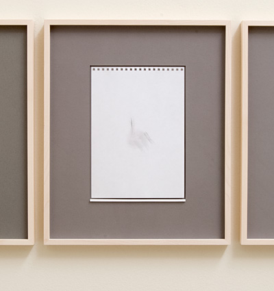 Richard Tuttle / 18 Drawings for Village IV Untitled, No. 17  2004  paper: 24 x 17 cm / pp: 39.7 x 32.7 cm pencil on paper