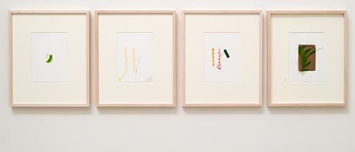 Richard Tuttle / Untitled  2012 4 parts each 17.7 x 12.6 cm pencil, colored pencil, watercolor, gouache on paper