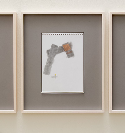 Richard Tuttle / 18 Drawings for Village IV Untitled, No. 3  2004  paper: 24 x 17 cm / pp: 39.7 x 32.7 cm pencil and colored pencil on paper