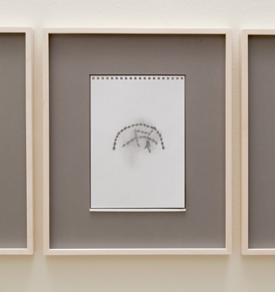 Richard Tuttle / 18 Drawings for Village IV Untitled, No. 5  2004  paper: 24 x 17 cm / pp: 39.7 x 32.7 cm pencil on paper
