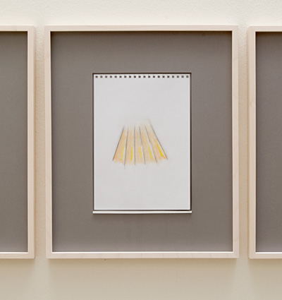 Richard Tuttle / 18 Drawings for Village IV Untitled, No. 6  2004  paper: 24 x 17 cm / pp: 39.7 x 32.7 cm pencil and colored pencil on paper