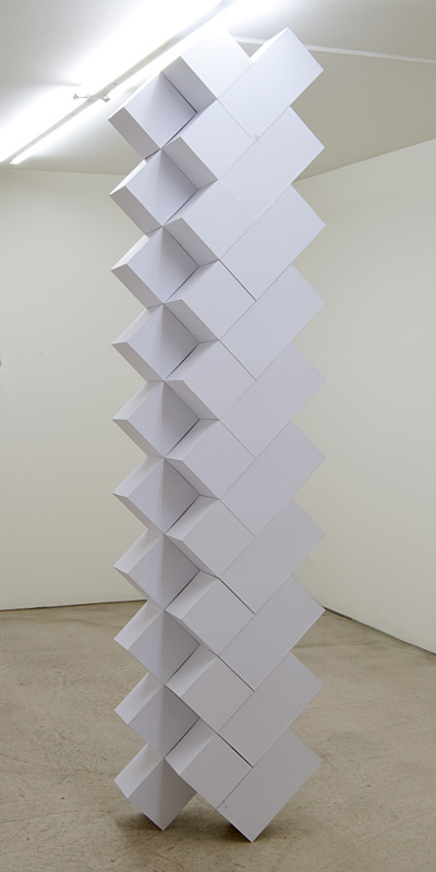 Richard Tuttle / Growth  2012 project for sculpture height variable (floor to ceiling)