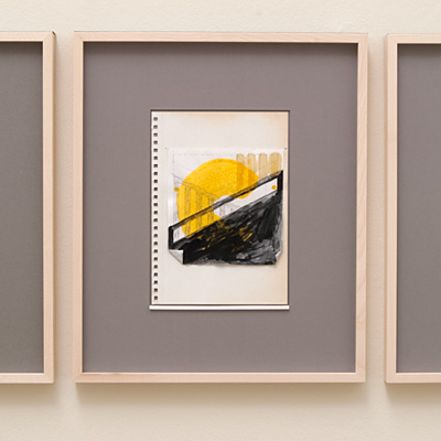 Richard Tuttle / 14 Drawings for Village VI Untitled, No. 11  2004  paper: 21 x 14.8 cm / pp: 36.7 x 30.5 cm pencil, gouache, lacquer and collage on paper