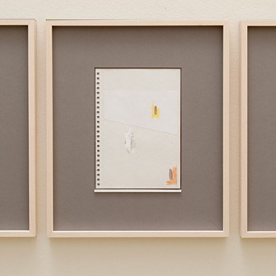Richard Tuttle / 14 Drawings for Village VI Untitled, No. 4  2004  paper: 21 x 14.8 cm / pp: 36.7 x 30.5 cm pencil, colored pencil, gouache and collage on paper