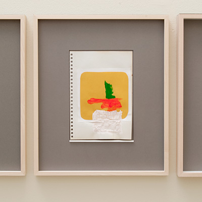 Richard Tuttle / 14 Drawings for Village VI Untitled, No. 7  2004  paper: 21 x 14.8 cm / pp: 36.7 x 30.5 cm acrylic and collage on paper