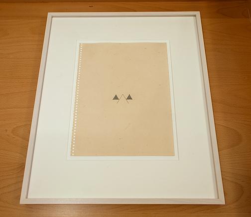 Richard Tuttle / Richard Tuttle Helios  1975  28 x 21.5 cm Bleistift auf Papier
