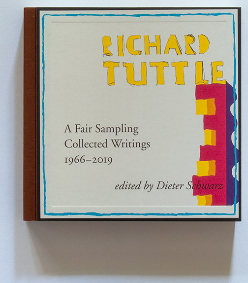 A Fair Sampling, Collected Writings 1966–2019, Richard Tuttle